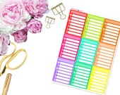 Rainbow Daily Habits Full Boxes -- Matte Planner Stickers