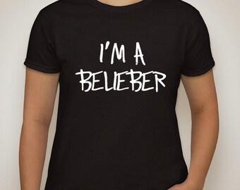 """justin bieber """"I'm A Belieber"""" t-shirt"""