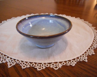 Periwinkle Blue Pottery Bowl