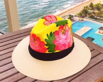 Hand-painted one of a kind Colombian hats