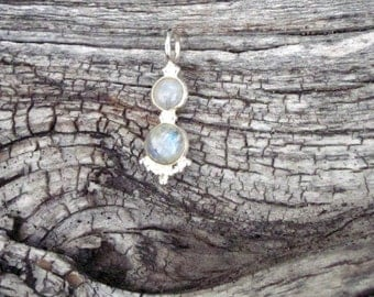 Moonstone & Sterling Silver Pendant - #163
