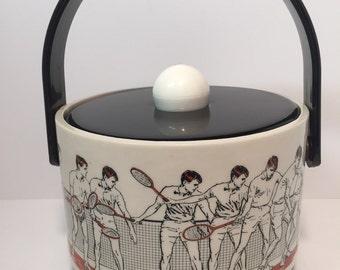 Vintage Cera Tennis player ice bucket