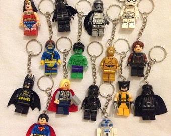Superhero/Star Wars Minifigure Keychain