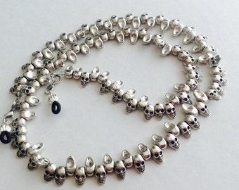 Silver Skull Eyeglass Chain