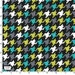 Everyday Houndstooth Fabric - Mermaid - sold by the 1/2 yard