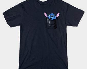 POCKET 626 - men's t-shirt - Stitch tshirt - S, M, L, XL, XXL, 3XL, 4XL, 5XL