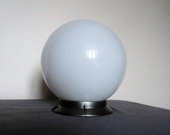 Vintage ceiling light globe french opaline century white-light atmosphere or bedside 1950 s glass of milk/illuminati10