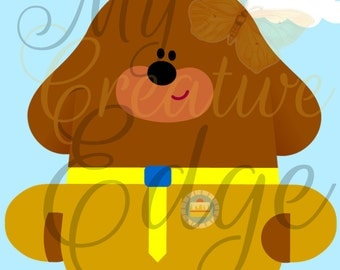 Hey Duggee - Party Game - Pin the Cake Badge on Duggee