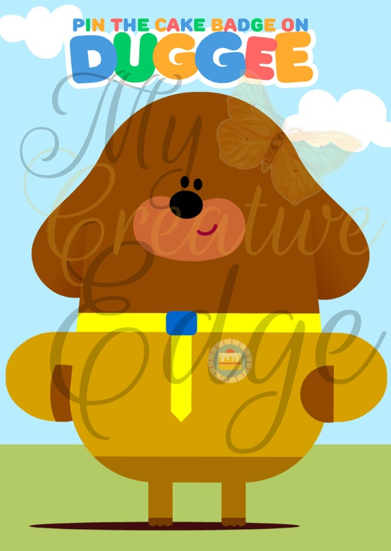 Hey Duggee Party Game Pin The Cake Badge On Duggee