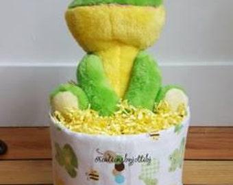 Gender Neutral Mini Diaper Cakes Baby Shower Gifts Gender Neutral Baby Shower Mini Diaper Cake Froggie Diaper Cake