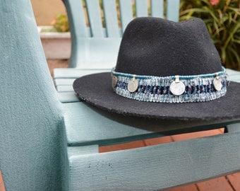 Blue Coin Hat Belt