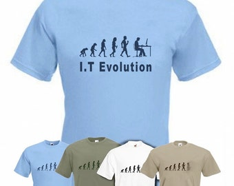 Evolution to IT Expert t-shirt Funny Computer T-shirt sizes S TO 2XXL