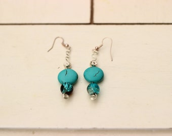 Gemstone droplet earrings