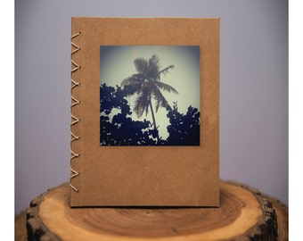 Palm Tree - handmade blank kraft paper notebook