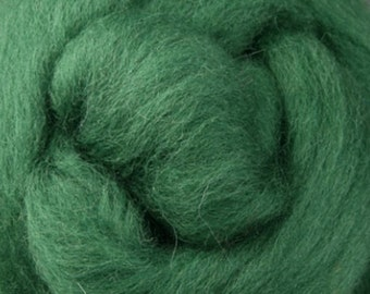 Moss Corriedale Wool Roving One Ounce for Felting and Spinning