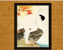 SUMMER SALES BUY 2 Get 1 Free Japanese Art Print - The Fragrance of a Bath 1930 - Ito Shinsui Ukiyo-e Poster Design Home Wall Decor Japan Or