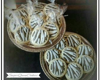 zebra print sugar cookies