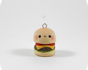 Kawaii Burger A - Polymer Clay Charm