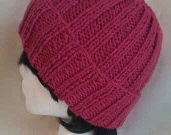 Burgundy Brim Hat