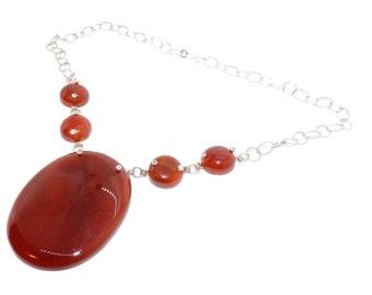 Carnelian Statement necklace