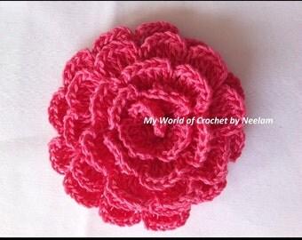 DIY Crochet Flower Pattern instant download crochet flower pattern easy to make flower crochet