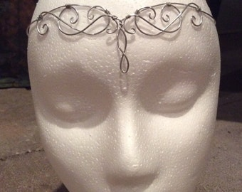 Silver Elven Circlet, Renaissance Circlet, Costume accessory, headpiece, princess, fairy, fae crown