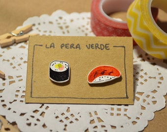 Sushi nigiri maki earrings