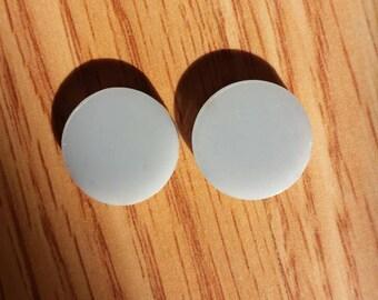 16mm storm gray, 16mm acrylic earring blanks