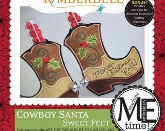 Cowboy Santa Sweet Feet By Kimberll Designs #KD638