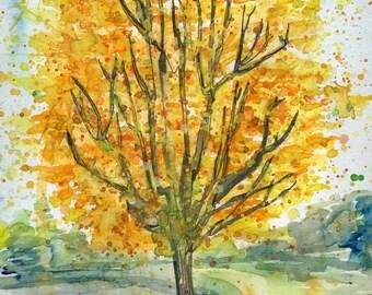 Golden Tree - PAiNtBABies - PRINT