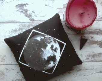 altar cushion / decorative cushion / altar supplies / wiccan / moon phases / moon paintings