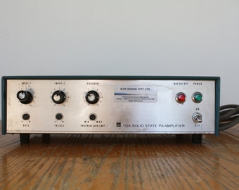 Vintage TOA Solid State PA-Amplifier -  D.J / Audio / Band Equipment - Model TA-955