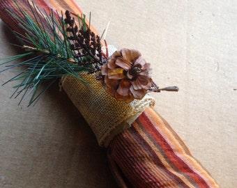 Set of 4 Handmade Napkin Rings