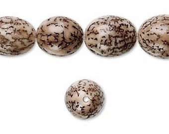 Betel Nut Bead, Brown Bead, Organic Bead, Natural Bead, 15x10 Oval, 10 each, D619