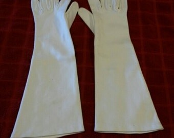 Vintage Long Gloves 100% Silk Made in France-Free Shipping