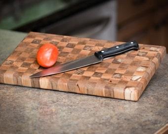 Oak & Maple End-Grain Cutting Board, Cutting Board, End-Grain Board, Wedding Gift, Ashland City, TN, Custom Woodworking