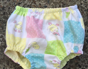 Vintage Pastel Duckling Nappy (Diaper) Cover