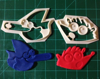 Regular Show Mordecai and Rigby Cookie Cutter