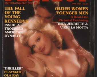 Mature Vintage Playboy Magazine Mens Girlie Pinup Magazine : May 1984 VG+ White Pages Intact Centerfold