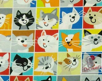 A cat tale, by Sarah Frederking, Studioe, cat, fat quarter, half-yard, by the yard, multiple quantity cut in one piece, 100% Cotton