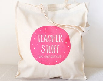 Cake Teacher Tote Bag, Teacher tote, Teacher gift