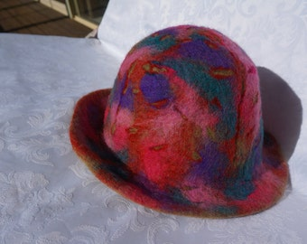 Merino wool felted hat