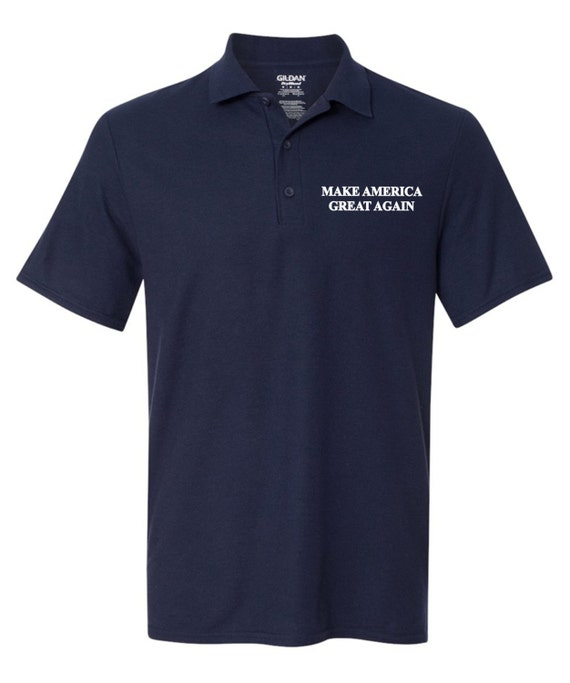 Make america great again polo t shirt donald by for Make a polo shirt