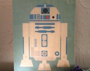 R2-D2/Star Wars - Handmade Wooden Sign