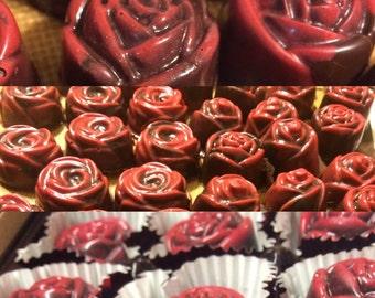 Handmade Chocolate Roses- One Dozen