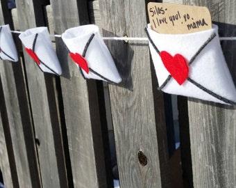 Valentine Envelope Garland