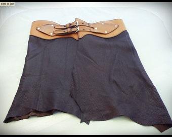 deerskin skirt & calfskin