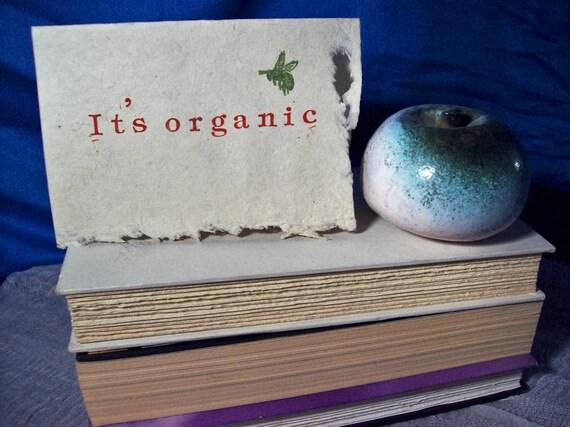 It's organic blank card