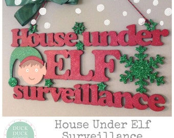 Elf Surveillance Plaque By Duck Duck Goose
