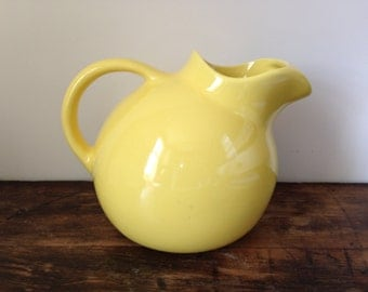 Vintage Gladding McBean Yellow Gloss Franciscan Ware El Patio Ball Pitcher, c. 1938